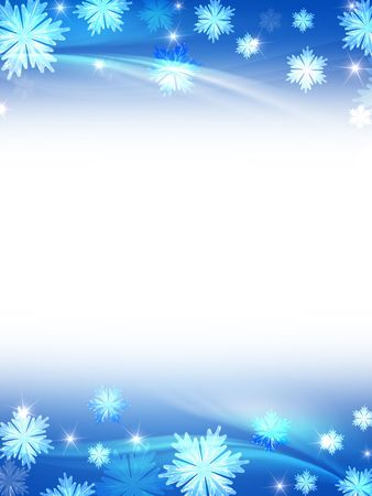 white blue christmas background with crystal snowflakes, stars and curves Stock Photo - 8238851