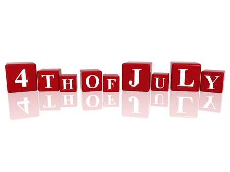 3d red cubes with letters makes 4th of July Stock Photo - 9953337