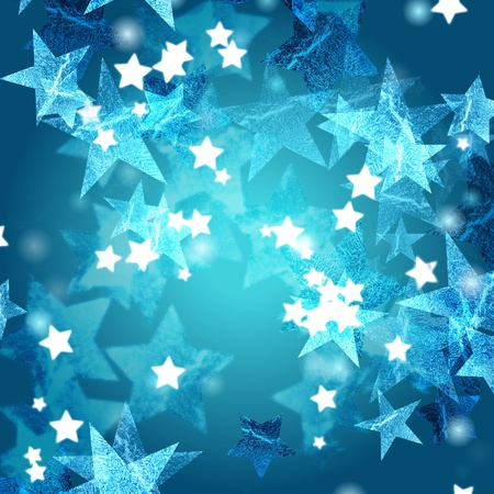 tenderly: blue and white stars over azure background Stock Photo