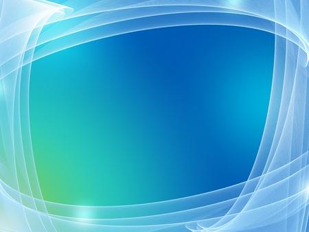 forme carre: abstrait bleu avec un filet de lumi�re et le cadre des lignes Banque d'images