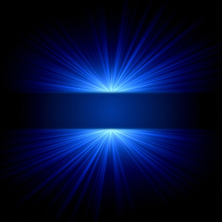 lustrous: abstract blue lights and dots over dark background