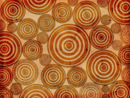 old paper background with circles like tree rings photo