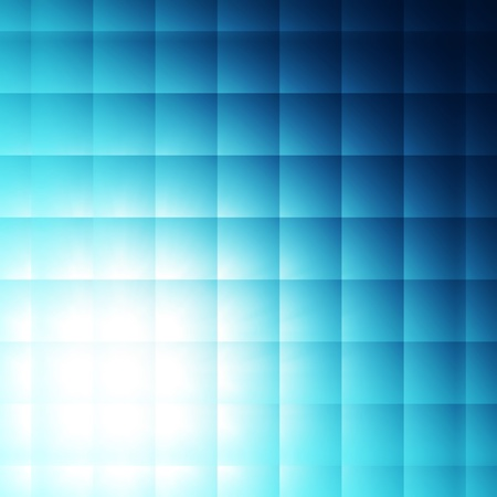 sectors: abstract blue squares shining over neon background