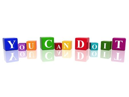 you can: 3d cubos de colores con el texto - se puede hacer
