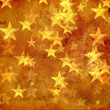 golden yellow stars over beige background old paper photo