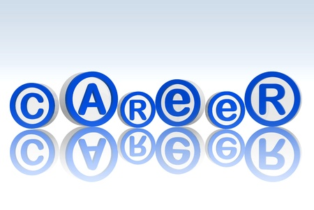 wealth management: 3d blue white circles with text career