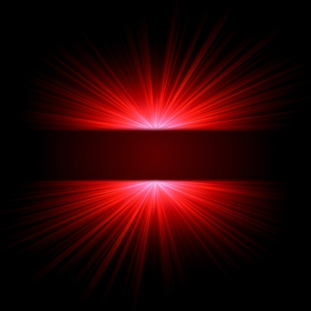 lustrous: abstract red ray lights over dark gradient Stock Photo