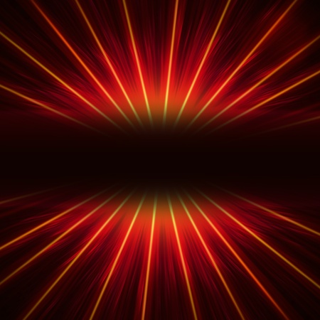 abstract red ray lights over dark gradient photo