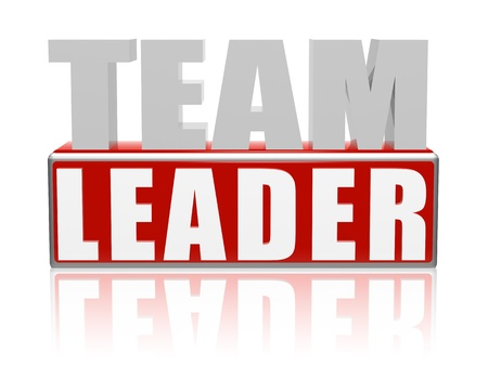 Team Leader � 3d text with red box Stock Photo - 13082730