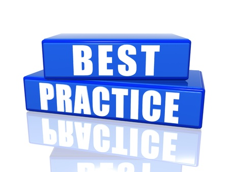 best practices: Best practice � 3d white over blue boxes