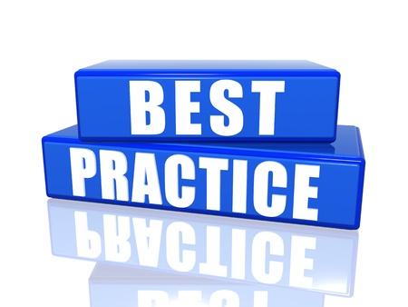 oefenen: Best practice 3d wit over blauwe dozen