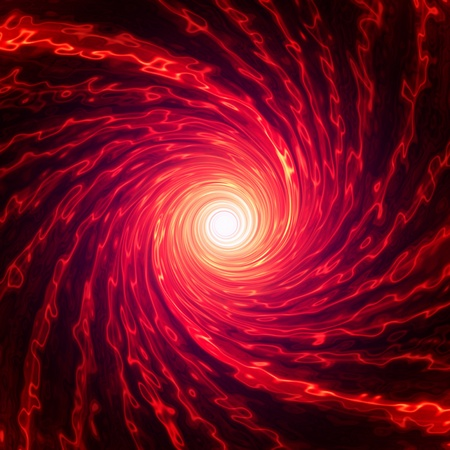 Abstarct red spiral over dark background photo