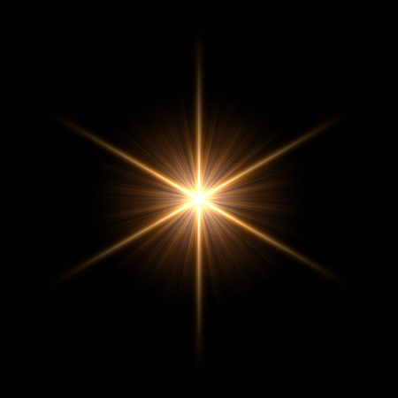 lens: Abstract lens flare light over dark background Stock Photo