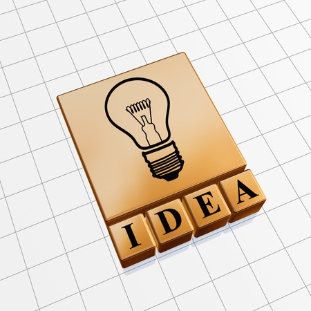Idea concept image of text and light bulb sign photo