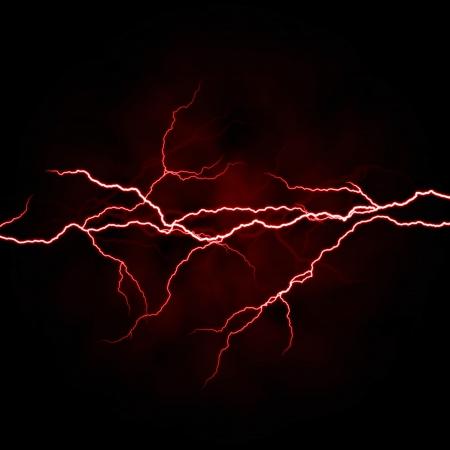 rayo electrico: el�ctrica de un rayo, blanco, rojo sobre fondo oscuro