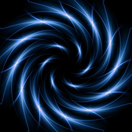 spirale: abstrakt, weiß, blaue Lichter in Spiralform angeordnet Lizenzfreie Bilder