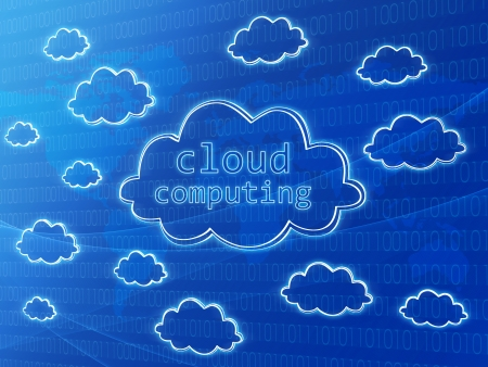 Cloud computing concept background with numbers and world map Stock Photo - 13759126