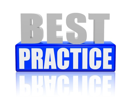Best practice 3d letters with blue box photo