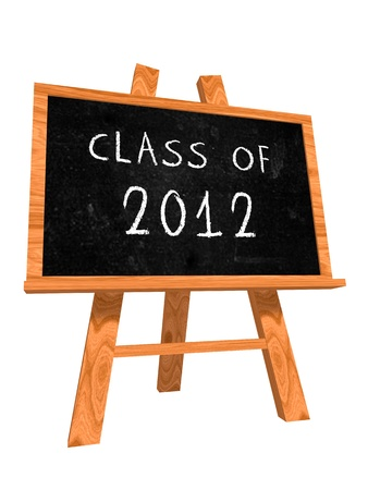 Class of 2012 text on isolated black board Stock Photo - 13841003