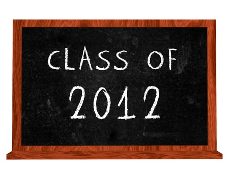 Class of 2012 text on isolated black board Stock Photo - 13841015