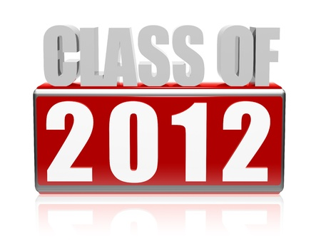 Class of 2012 3d white letters and cubes with text Stock Photo - 13840957