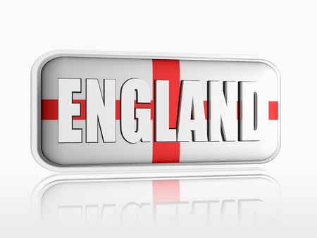 English flag 3d banner with white text Stock Photo - 13876249