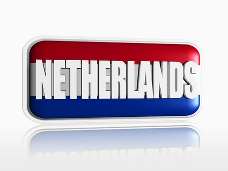 Dutch flag 3d banner with white text photo