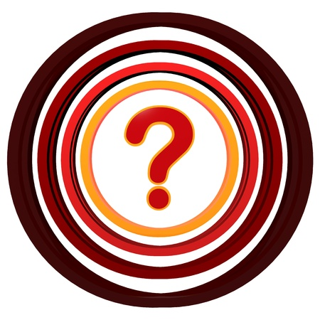 red 3d question sign with colorful circles Stock Photo - 14013473