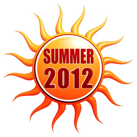 Summer 2012 text over 3d orange sun photo