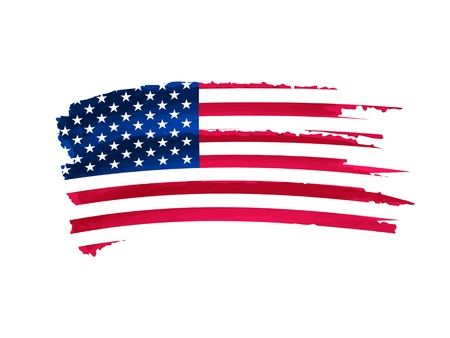 independency: drawing flag of united states of America Stock Photo