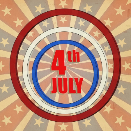 American background with text 4th July and stars Stock Photo - 14239580