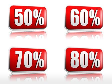 50 60: banderas rojas con 50 60 70 80 porcentajes