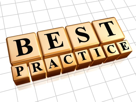 Best practice 3d golden boxes with black letters photo