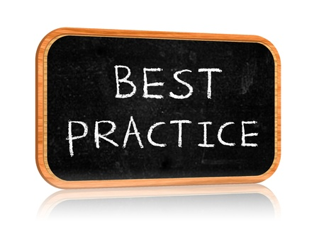 Banner with blackboard with text best practice Stock Photo - 14239553