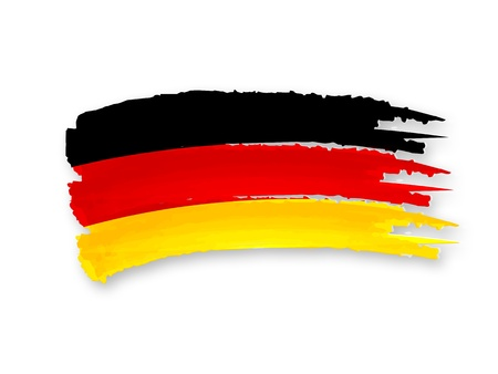 Illustration of Isolated hand drawn German flag illustration