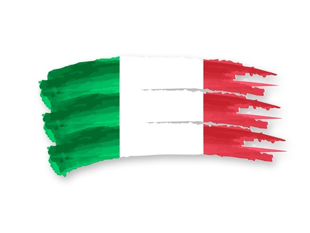 Illustration of Isolated hand drawn Italian flag illustration