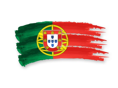 Illustration of Isolated hand drawn Portuguese flag illustration