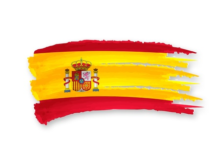 Illustration of Isolated hand drawn Spanish flag illustration