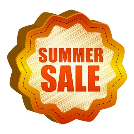 colorful sticker star like with text summer SALE photo