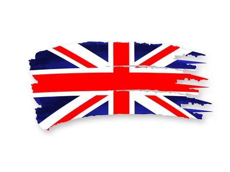 Illustration of Isolated hand drawn British flag illustration