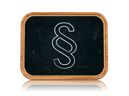 3d blackboard banner with chalk paragraph sign photo