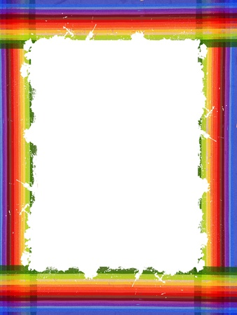 color frame from lines with big white space photo