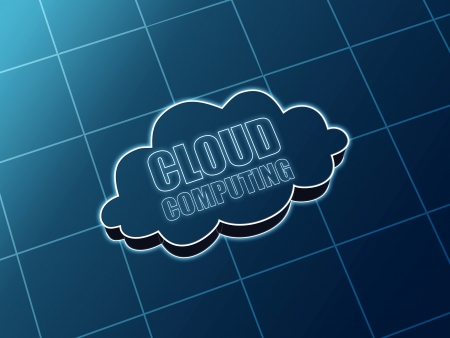 Cloud computing concept image glowing sign with text Stock Photo - 14974386