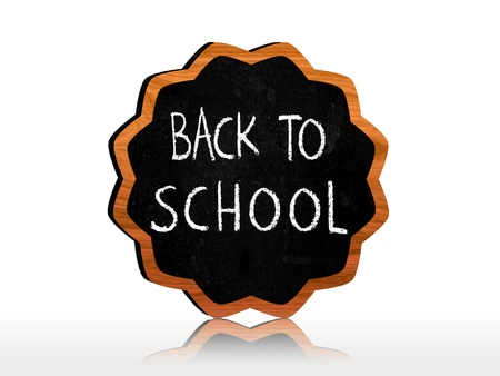 starlike: back to school chalk text on starlike blackboard