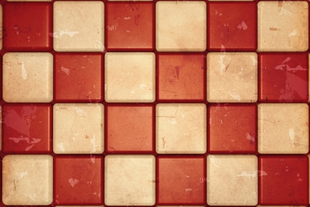 squared: retro checked background with white and red squares