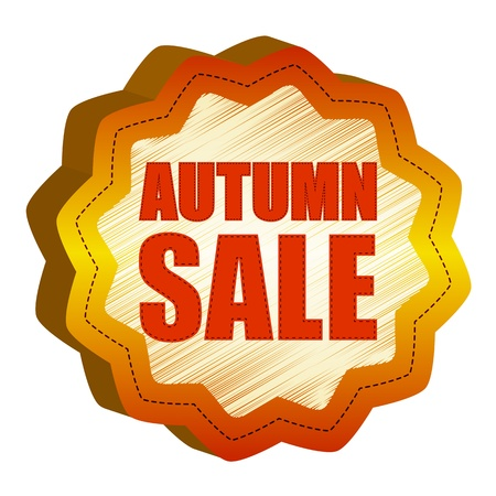 starlike: autumn sale - golden starlike label with text