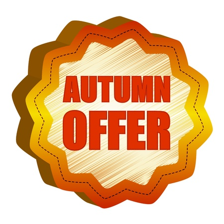 starlike: autumn offer - golden starlike label with text
