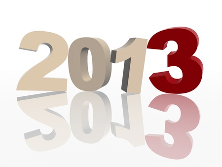 ciphers: 3d color figures like ciphers makes year 2013 over white background Stock Photo