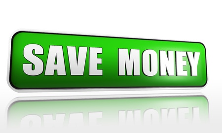 moneymaker: save money - 3d green banner with white text