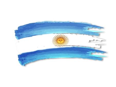 illustratie van geïsoleerde hand getekende Argentijnse vlag Stockfoto